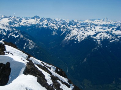 Mount Redoubt and Mount Shuksan From Silvertip Mountain Summit