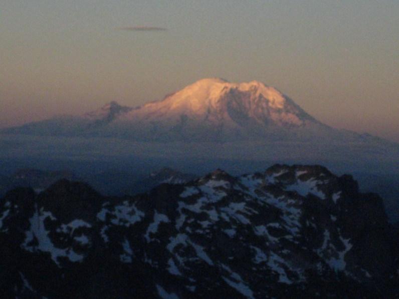 Sunrise On Mt Rainier