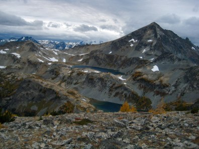 Ice Lakes and Mount Maude From North Butte