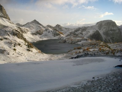 Upper Ice Lake From Ice Lakes Pass