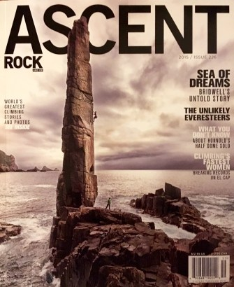 The Moai On 2015 Ascent Magazine Cover