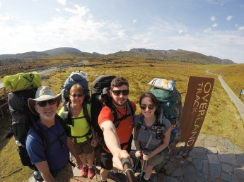 Jim & Eileen & Cal & Brooke At Overland Trailhead