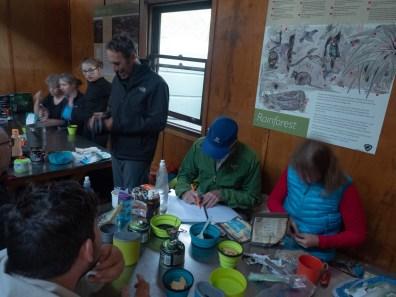 Jim Drawing A Billabong At Kia Ora Hut (photo by Brooke)