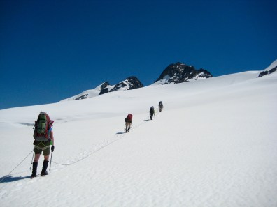 Heading Up Challenger Glacier On Day 3