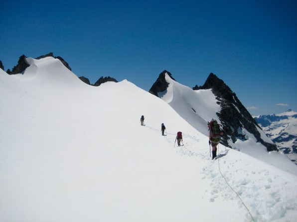 High On Challenger Glacier On Day 3