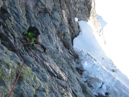 K.Lo Climbing Up to Ridge Crest