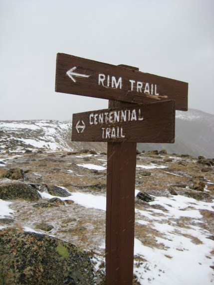 Trail Junction On Red Mtn Arm