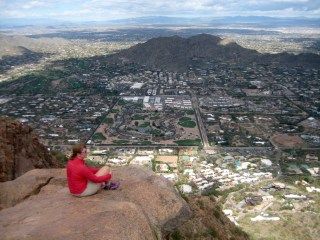 Eileen On Summit Of Camelback Mtn
