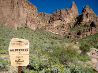 Crossing Into Superstition Wilderness