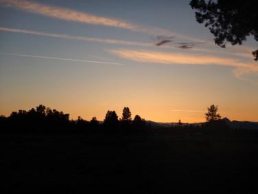 Beautiful sunset leaving Sisters!