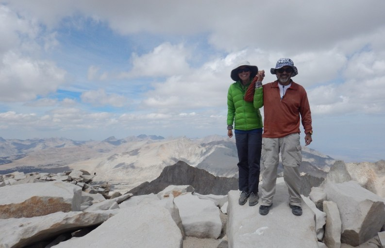 My dad and I on the summit of Mount Whitney, the tallest point in the lower 48!