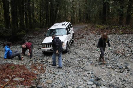 The infamous washout that kept us stuck overnight last Sunday.