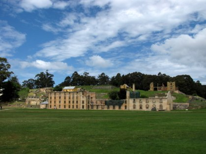 Port Arthur on the Tasman Peninsula - a small town and former convict settlement