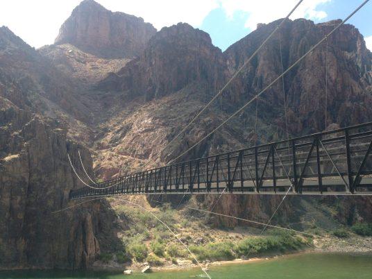 The Black Suspension bridge to Phantom Ranch