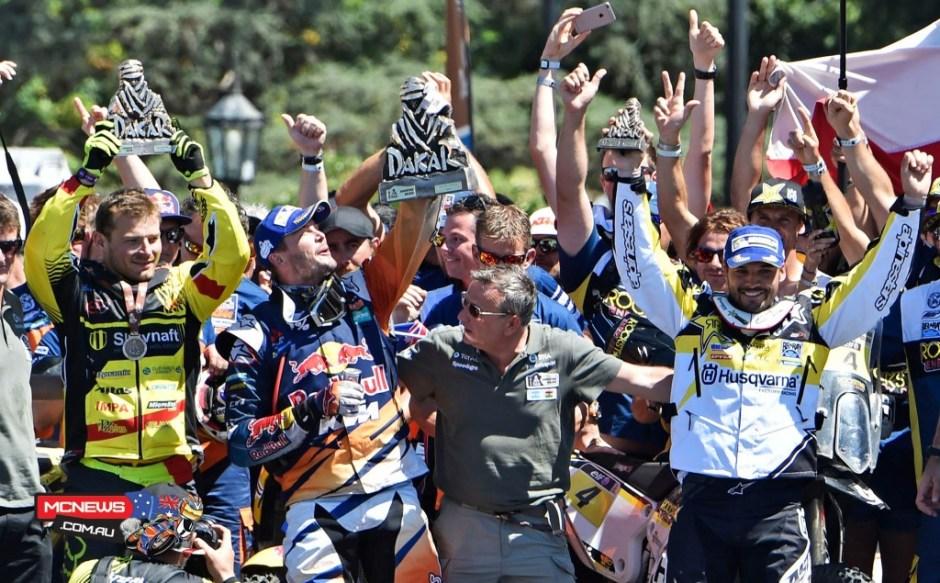 podium Dakar