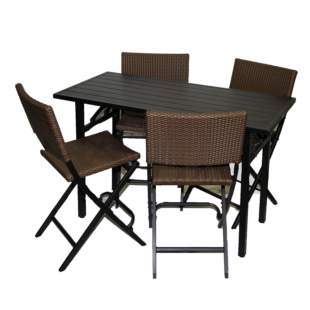 bar height patio set
