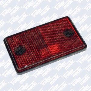 Rectangular red rear reflector