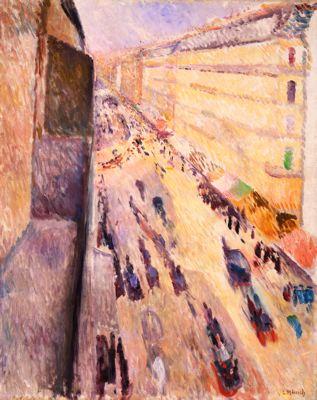 Edvard Munch, Rue de Rivoli, 1891.