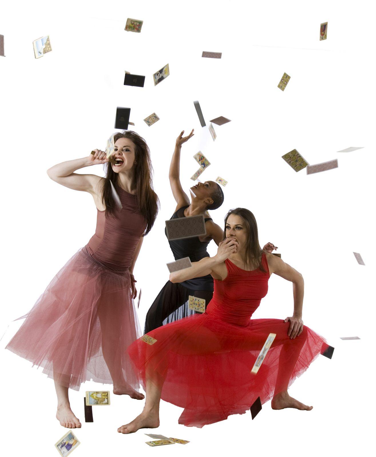Kirsten Shelton, Jessica Alejandra Wyatt and Vanessa Valecillos in Carmen Act I.  Photo by Cheryl Mann.