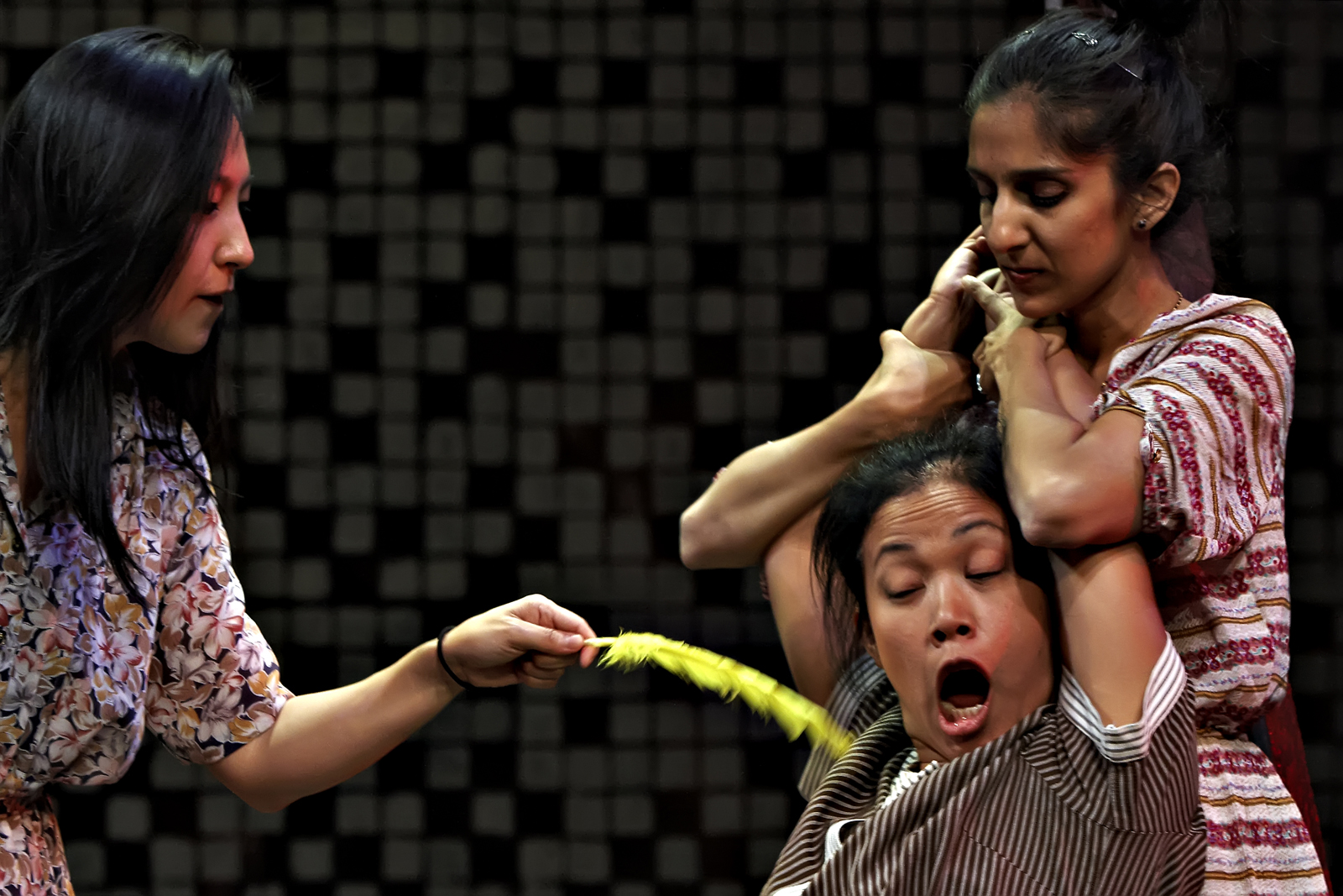 Marianne Kim, Sri Susilowati and Anjali Tata-Hudson.  Photo by Jorge Vismara.