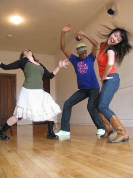 Suzy Grant, Donnell Williams and Szewai Lee of Portable Dance.