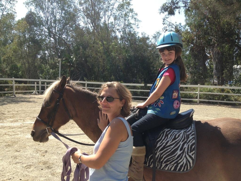 Girl Scout on Horseback