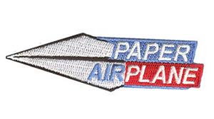 Paper Airplane Patch