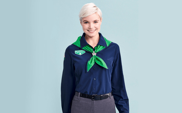 Adult girl scout uniform pic