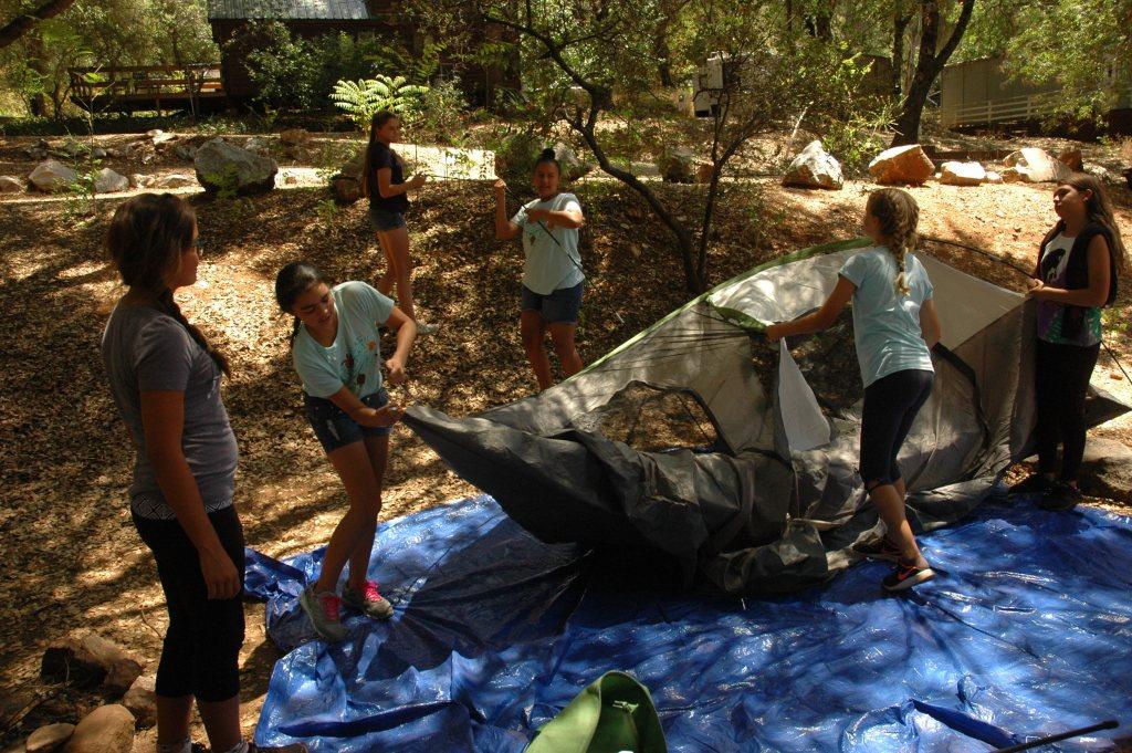 Older Girl Camping Trip