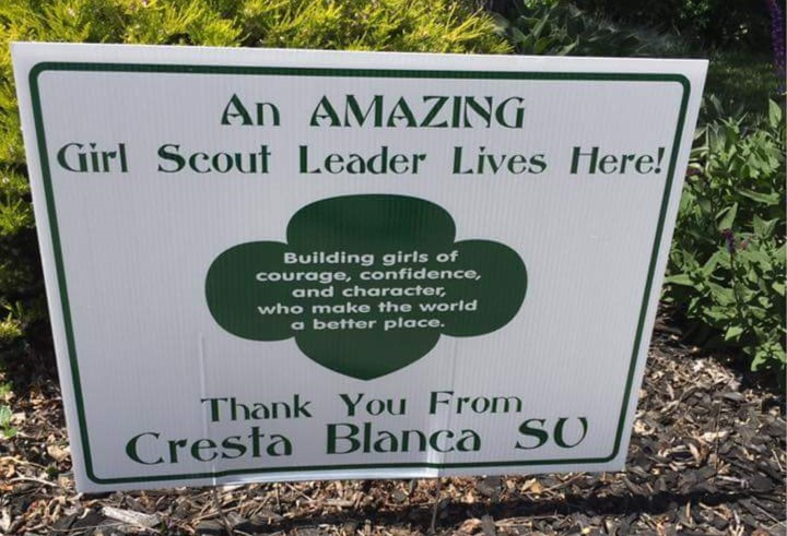 Girl Scout Thank You Sign