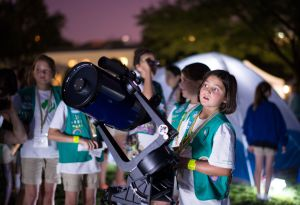 Girl Scout with Telescope