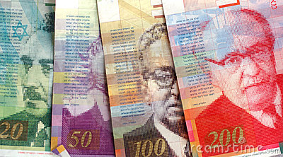 A picture of Israeli money