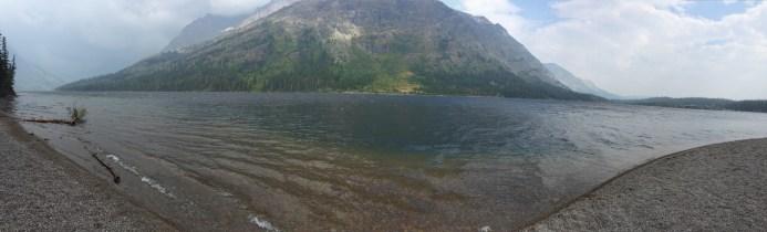 Two Medicine Lake looking toward Rising Wolf Mountain