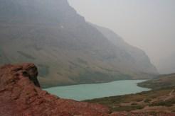 Top of rock overlooking Cracker Lake