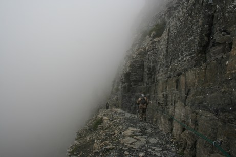 Stepping onto the foggy ledge of Highline