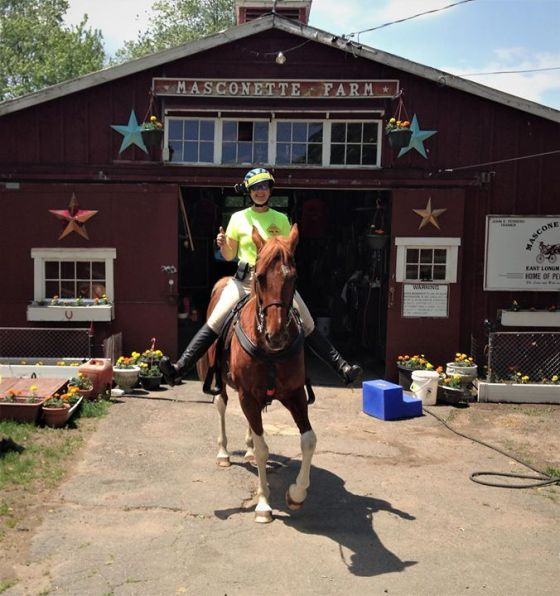 """Marissa and I (Danni) rode for the """"Share The Road Hors..."""