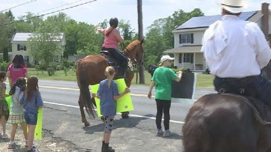 """The 6th annual """"share the road, Horses paved the way"""" c..."""