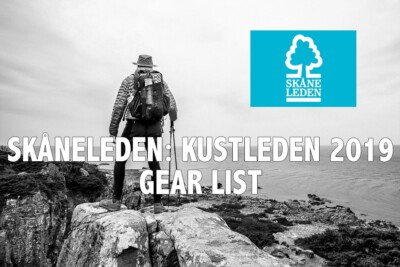 Skåneleden - Coast to coast gear list, Kustleden 2019 Gear list