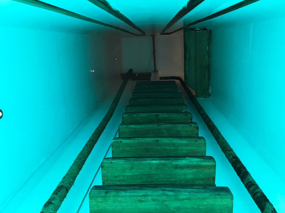 Staircase to underwater room