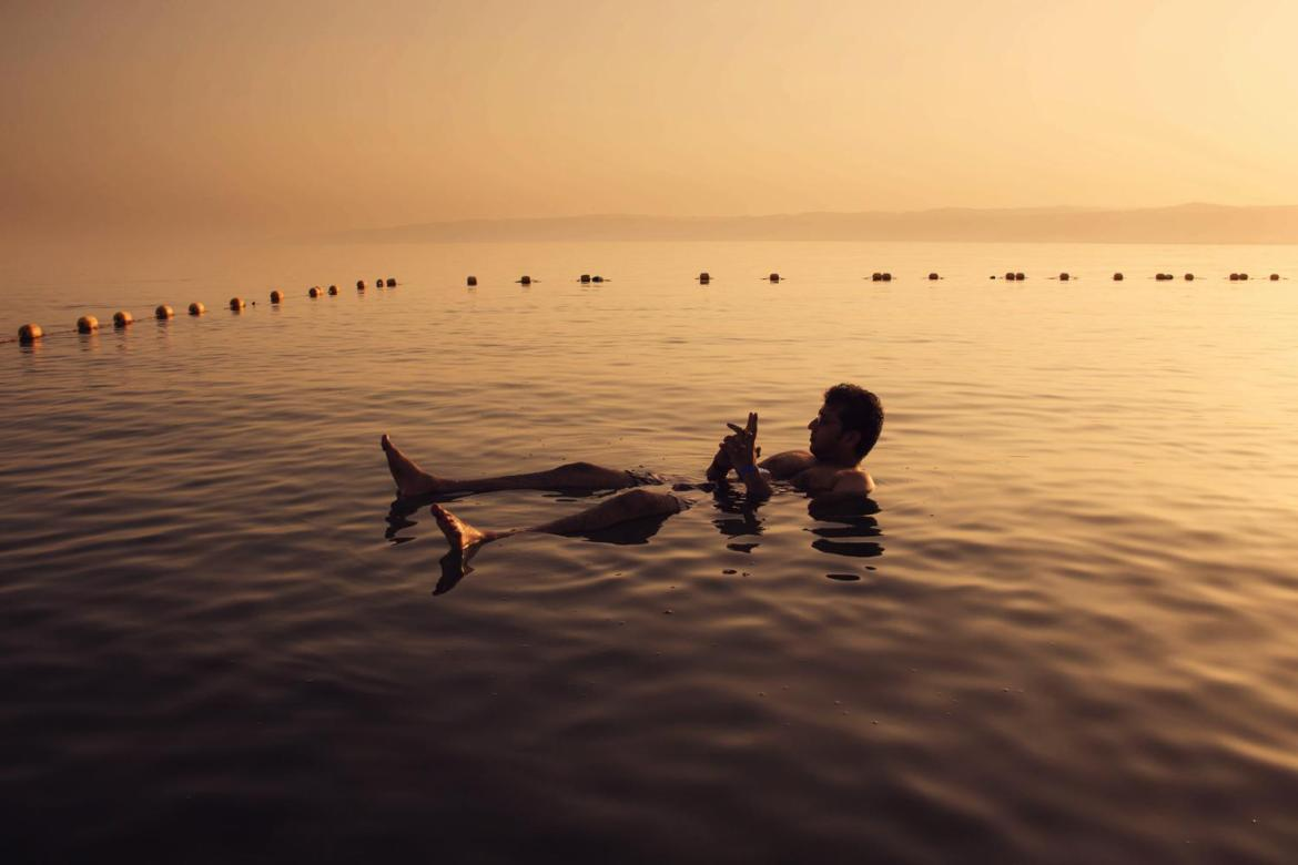 Dead Sea Floating Man