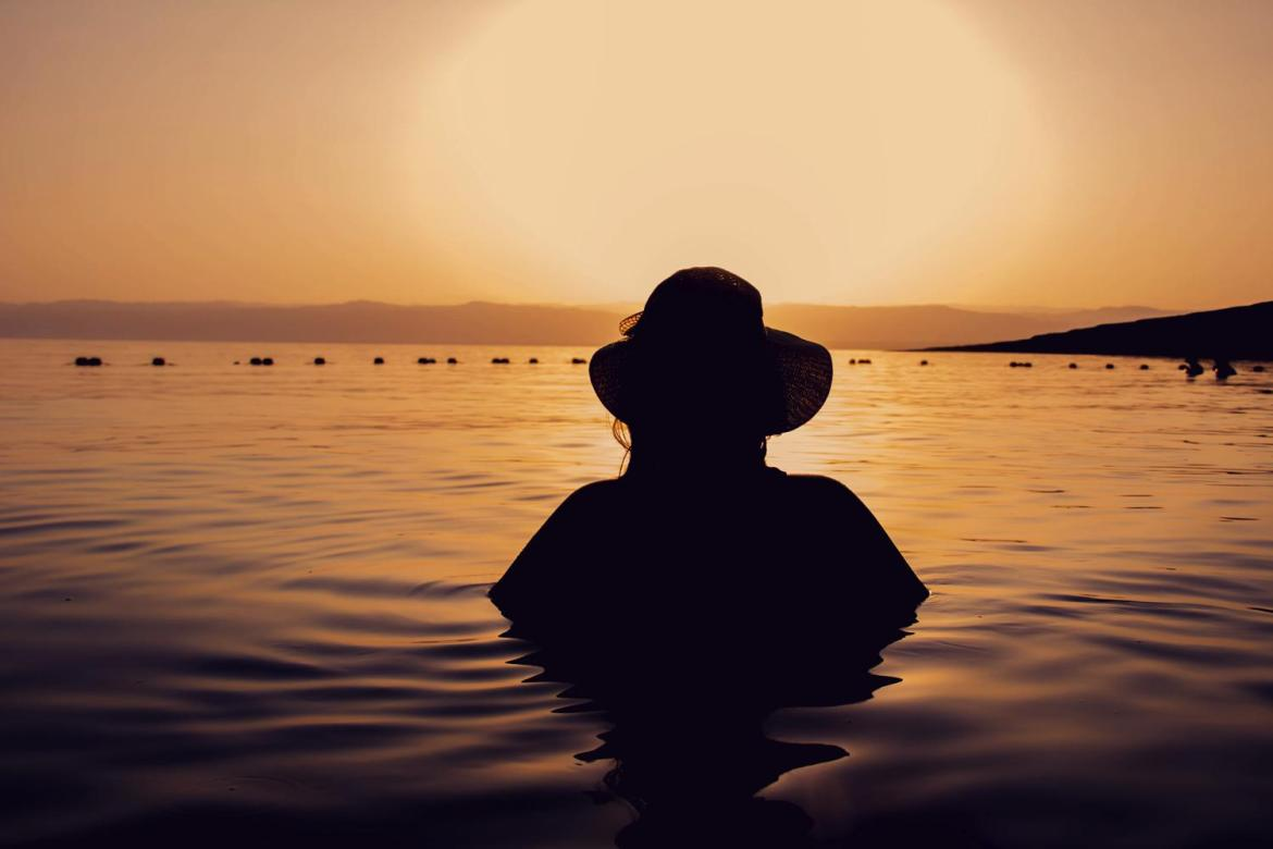 Dead Sea Jordan sunset