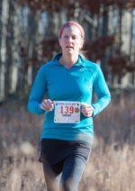 Lindsay Obrig heading down Pell Hill at the 2016 Raven Rocks Run. (photo by Tom Casper)