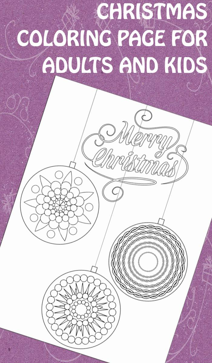 Christmas Coloring Page For Adults And Kids Trail Of Colors