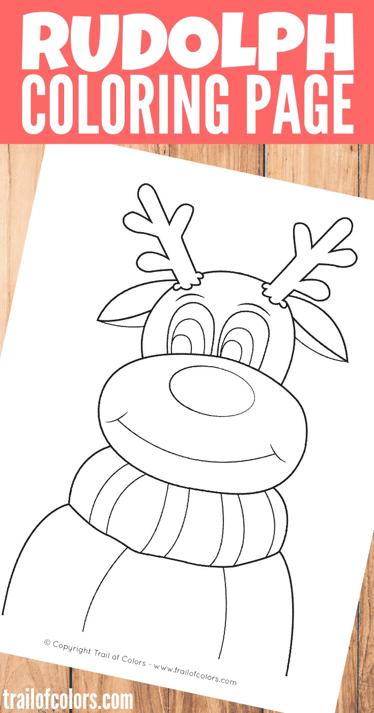 Rudolph The Reindeer Coloring Page Trail Of Colors