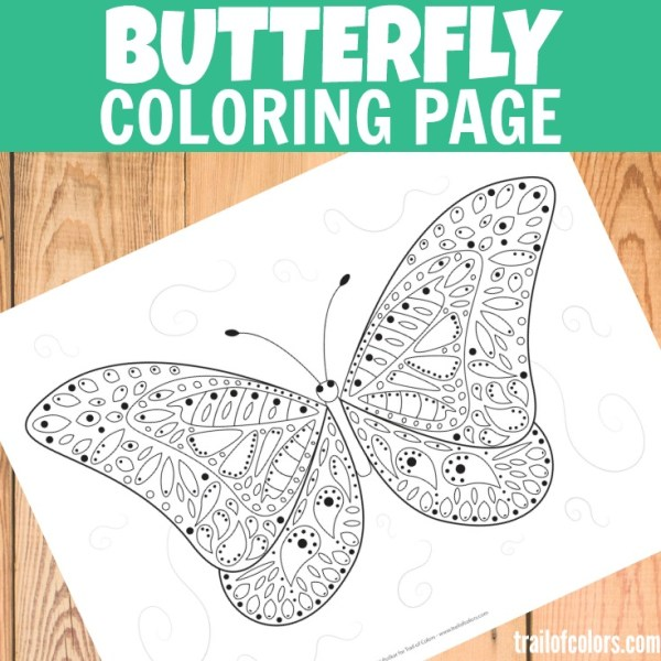 free printable butterfly coloring pages # 77