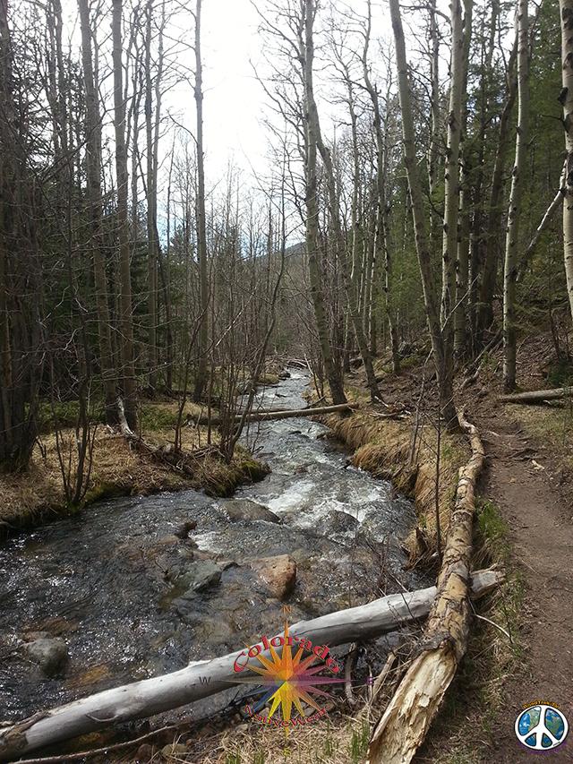 Bridal Veil Falls, Day Hike Rocky Mountain National Park,