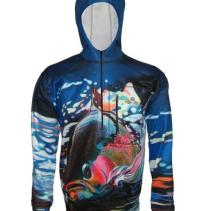 Running Rainbow_Flex 1/4 Zip Hoodie_Fly Fishing Apparel