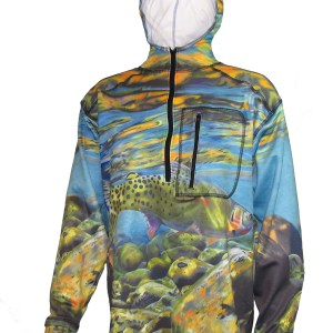 Freestone 1/4-Zip FlexFleece Fish Adventure Hoodie freestone streams offer some of the best aquatic life for fish creating abundant hatches and great fishing
