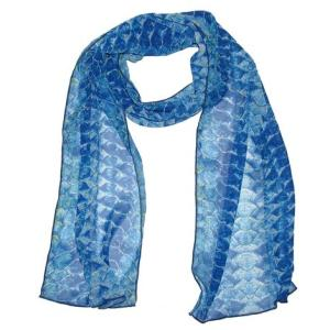 Tarpon Silk Fish Scarf add a beautiful accent to your outfit