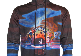 Hoodie Fly Fishing Apparel The Snack Rainbow Trout A D Maddox is head on action as a Rainbow Trout is gulping a Mayfly on your favorite tail water fishery, or hiking into a wilderness lake on a backpacking trip, apparel offers great sun protection hiking, mountain biking, camping or other outdoor activity